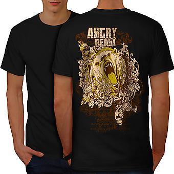 Angry Bear Wild Men BlackT-shirt Back | Wellcoda