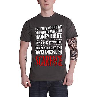 Scarface T Shirt You Gotta Make The Money First new Official Mens Grey