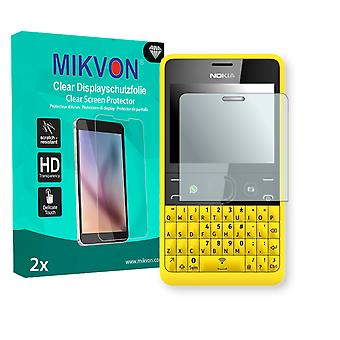Nokia Asha 210 Screen Protector - Mikvon Clear (Retail Package with accessories)
