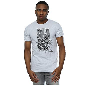 Marvel Men's Black Panther Spray Headshot T-Shirt