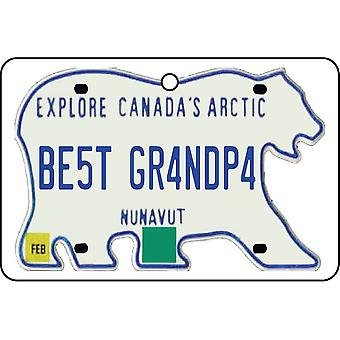 NUNAVUT - Best Grandpa License Plate Car Air Freshener
