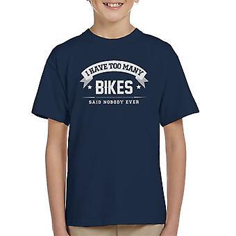 Eu tenho muitas bicicletas disse ninguém alguma vez do garoto t-shirt