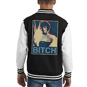 Joan Collins Dynasty Poster Style Print Kid's Varsity Jacket