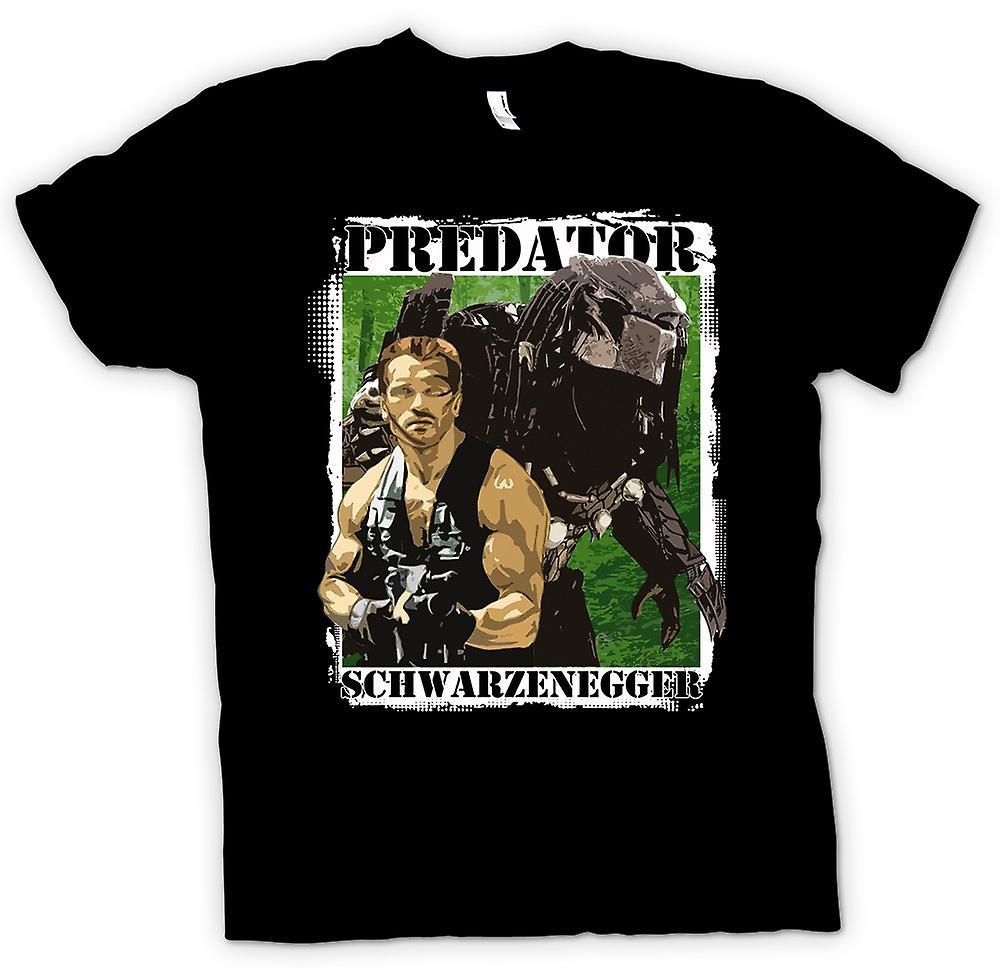 Mens t-skjorte - Predator Alien - Schwarzenegger