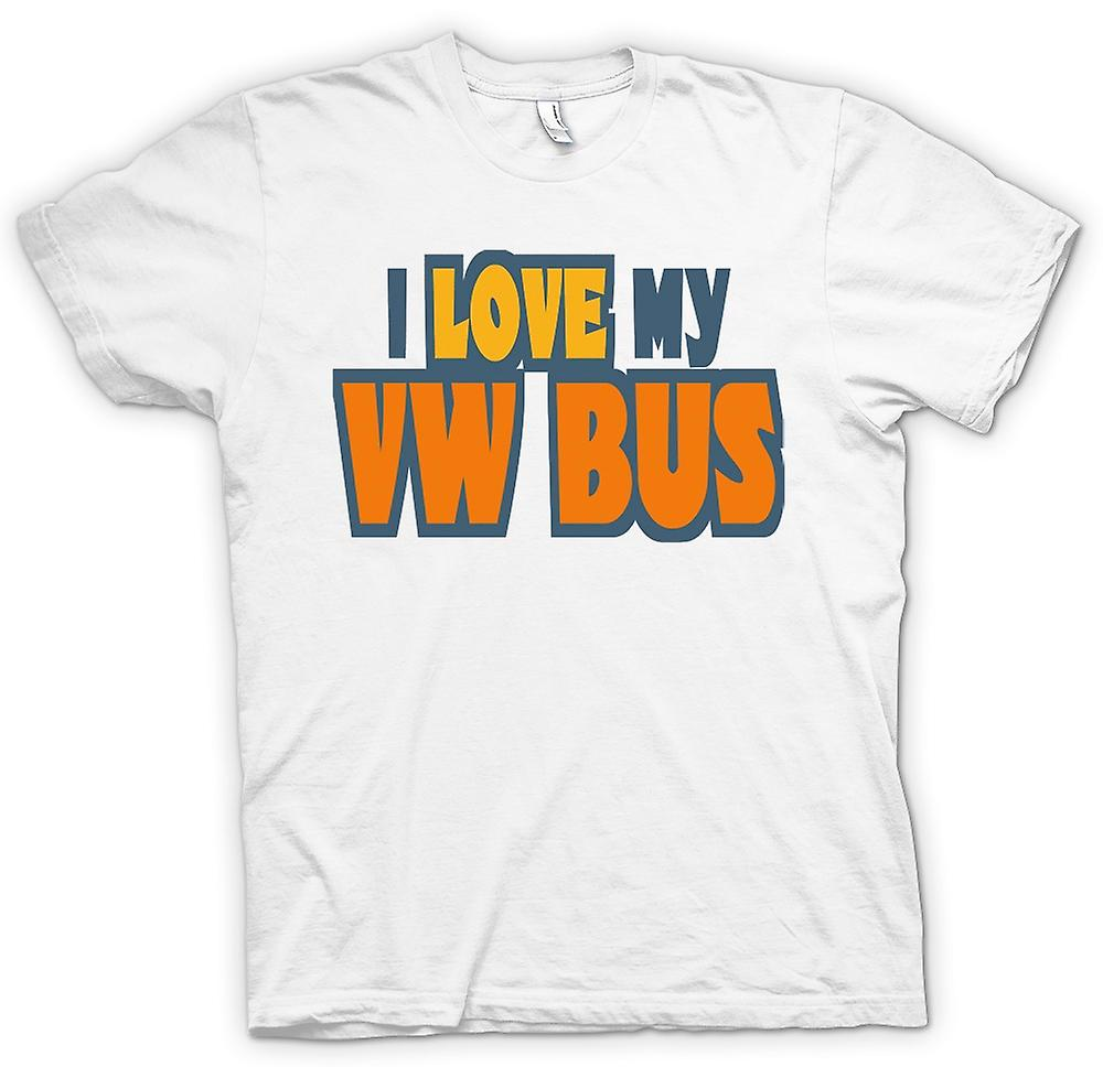 Mens t-shirt - I Love My Bus VW - appassionato di auto