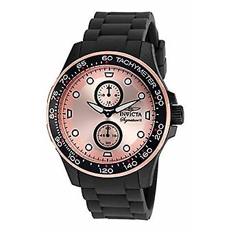 Invicta Men's 7084 Signature Rose Dial Black Ion-Plated Watch