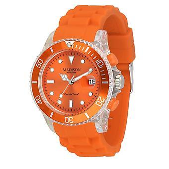 Candy time by Madison N.Y.. watch unisex U4399-04-1 orange Flash