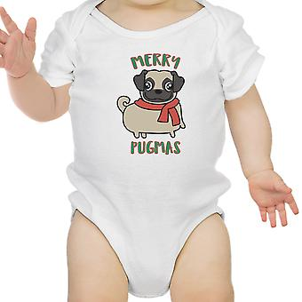 Merry Pugmas Pug Baby Bodysuit Funny Christmas Baby Clothing Gifts