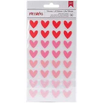 My Funny Valentine Puffy Stickers-Hearts