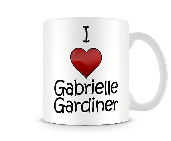 I Love Gabrielle Gardiner Printed Mug