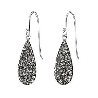 Pear - 925 Sterling Silver Crystal Earrings - W37594x