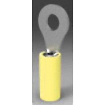 TE conectividad 320576 anillo terminal transversal (max.) = mm² 6.604 agujero Ø = 7,92 mm parcialmente aislado amarillo 1 PC
