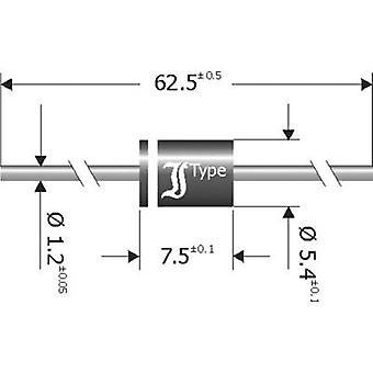 Redresseur de barrière de Diotec Schottky SB850 DO 201 50 V 8 A