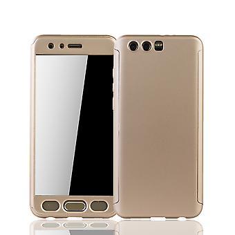 Huawei honor 9 mobiele bescherming-case volledige gevaldekking van het tank bescherming glas goud