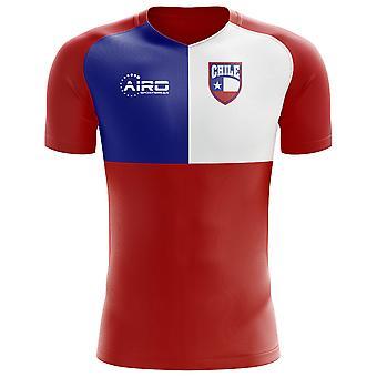 2018-2019 شيلي العلم مفهوم كرة القدم قميص