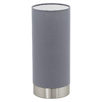 Eglo Pasteri Tubular Touch Light Lamp, Grey Shade