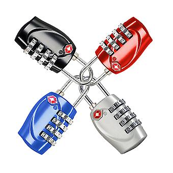 TRIXES 4 X Padlock TSA Combination Padlock Set Multicoloured