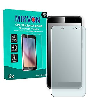 Vodafone Smart Platinum 7 Screen Protector - Mikvon Clear (Retail Package with accessories) (intentionally smaller than the display due to its curved surface)