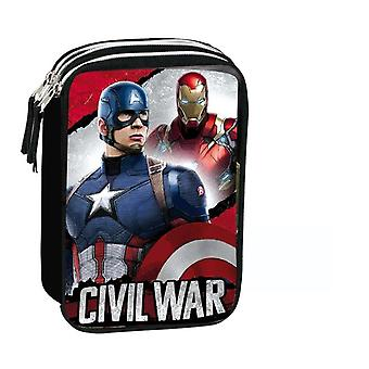 Captain America vs Iron Man 3 school bag Zips