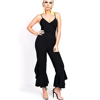 IKRUSH Womens Maxine Flared Leg Strappy Jumpsuit