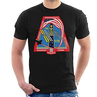 NASA STS 119 Space Shuttle Discovery Mission Patch Men's T-Shirt
