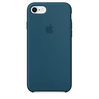 Emballage d'origine silicone Apple Micro fibre Housse Etui pour iPhone 8 / 7 - Cosmos Blau