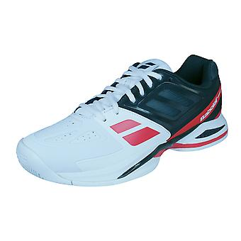 Babolat Propulse Team All Court Mens Tennis Trainers / Shoes - White and Red