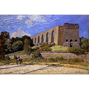 De waterwerken bij Marly, Alfred Sisley, 40x60cm met lade
