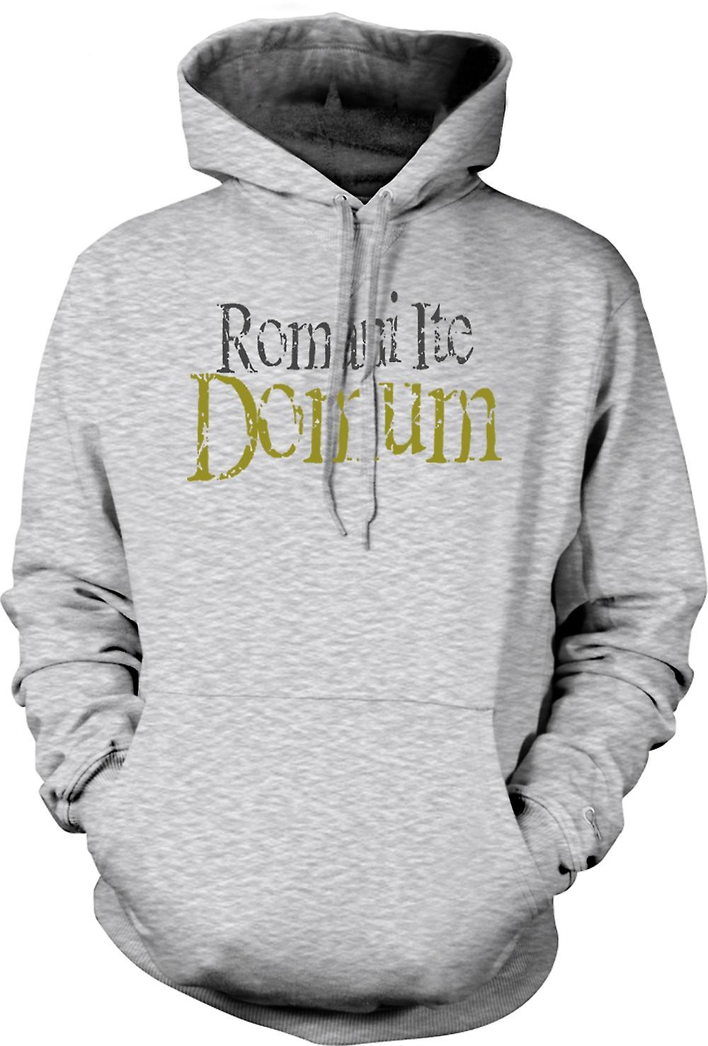 Mens-Hoodie - Romani Ite Domum - lustig