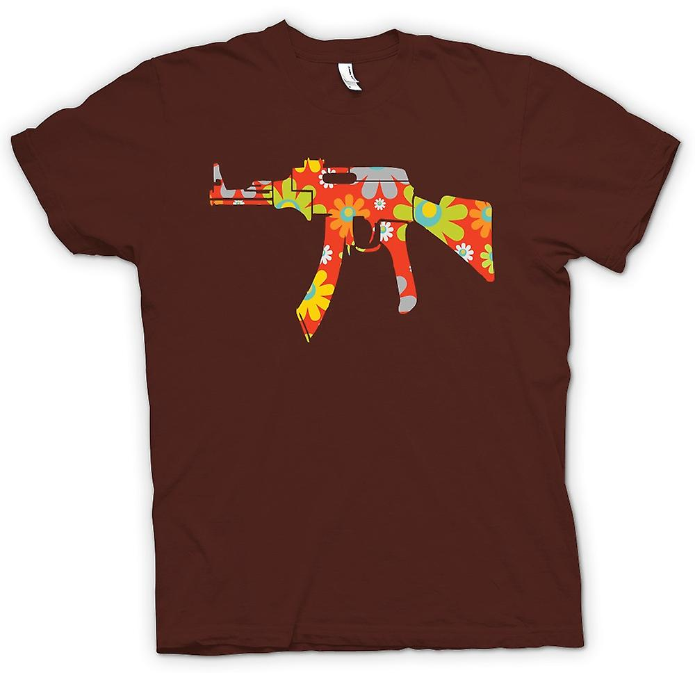 Mens t-shirt - AK47 hippy pace - Funny