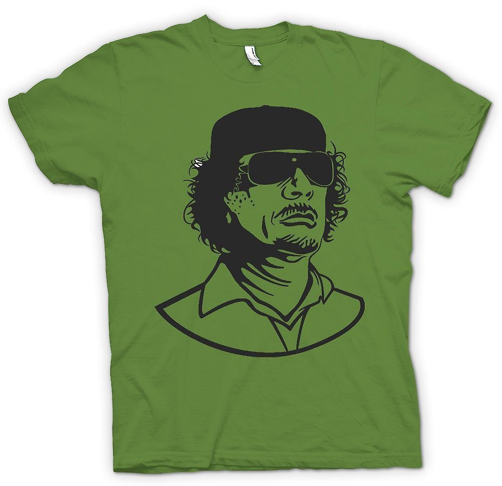 Herr T-shirt - Gaddafi - libyska diktatorn porträtt