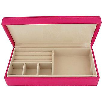 Mele Ladies - Girls Pink Leatherette Jewellery/Make Up/Accessories Box