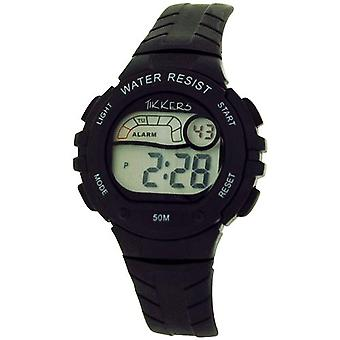Reflex Tikkers Children's Digital Alarm Stop Watch Black Rubber Strap RTK0005