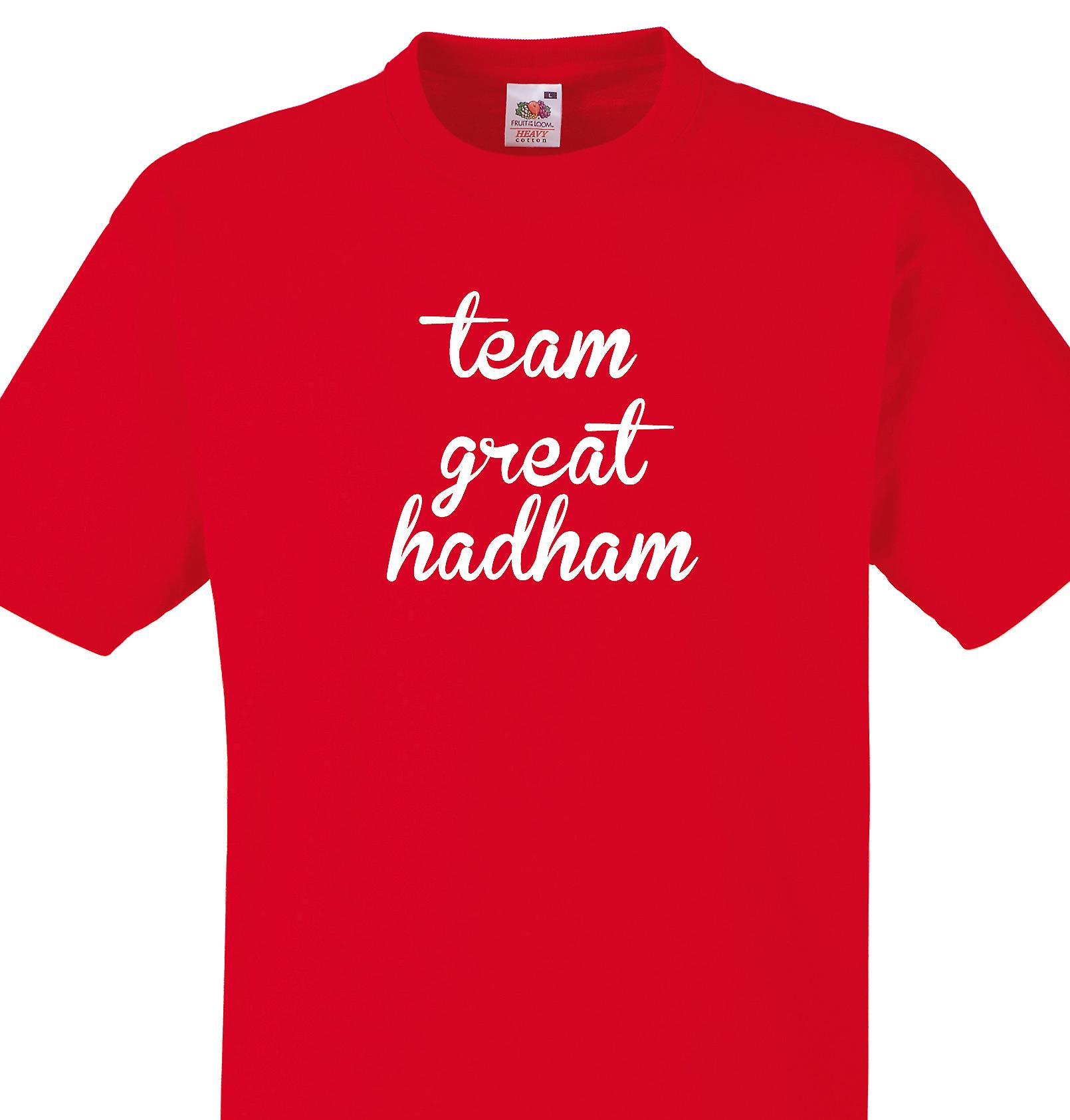 Team Great hadham Red T shirt