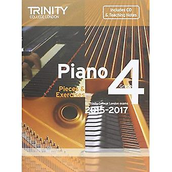 Piano 2015-2017: Grade 4: Pieces & Exercises (Piano Exam Repertoire) (With Free Audio CD)