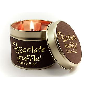 Lily Flame Scented Candle in a presentation Tin - Chocolate Truffle