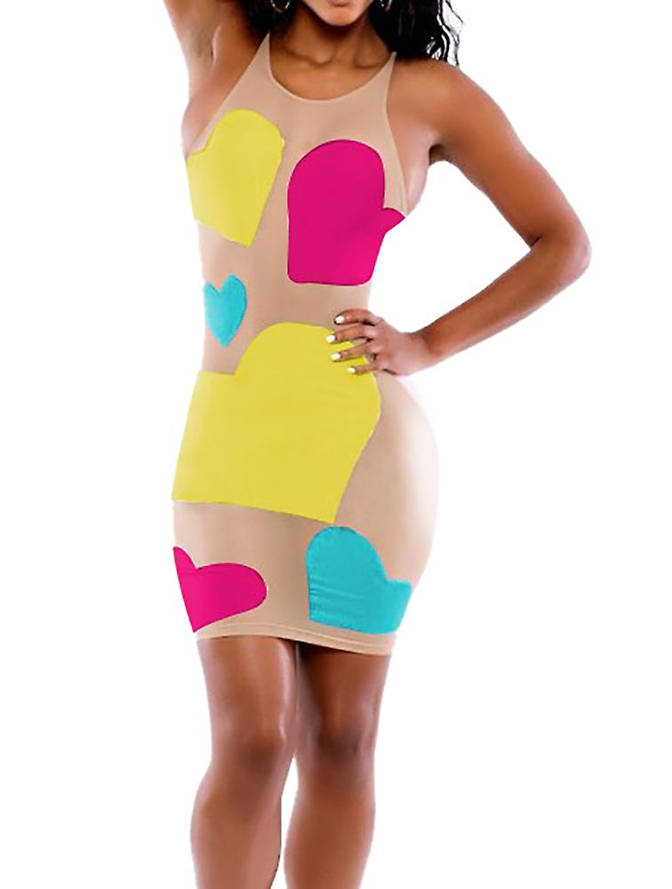 Waooh - sexy dress with colorful hearts Caspa?