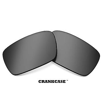 CRANKCASE Replacement Lenses Polarized Silver & Green by SEEK fits OAKLEY
