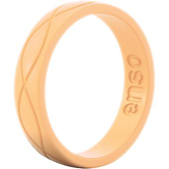 Enso Rings Women's Infinity Series Silicone Ring - Tangerine