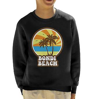 Bondi Beach Retro Sunset Kid's Sweatshirt