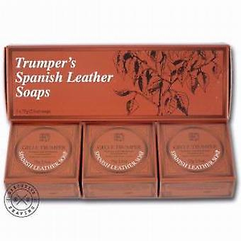 Geo F Trumper Spanish Leather Hand Soap (3 x 75g)