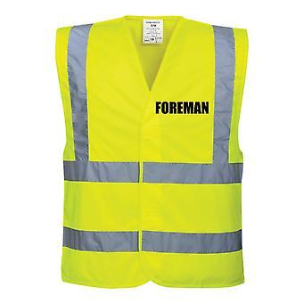 Hi Viz Yellow Vis Vests Foreman