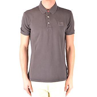 Napapijri Grey Cotton Polo Shirt