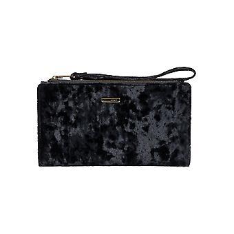Roxy Womens Find Joy Velvet Stylish Large Wallet With Removable Strap- Black