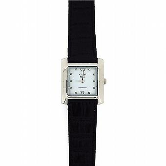 Genuine Diamond Gianni Vecci Gents Black Leather Strap Dress Watch GOTW87