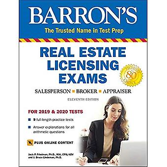 Barron ' s Real Estate Licensing Tentor med online digital Flashcards