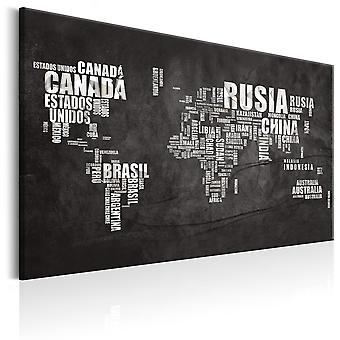 Canvas Print - World Map: Spanish Geography (ES)