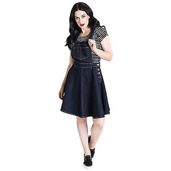 Hell Bunny Navy Dakota Pinafore Dress 4XL