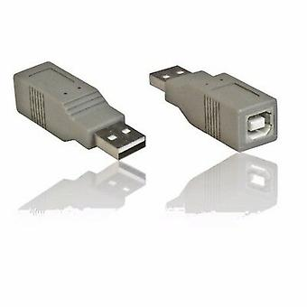 USB 2.0 AM-BF 'A' Male to 'B' Female Gender Changer Cable Lead Adapter Coupler
