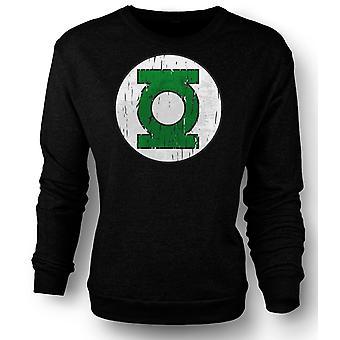 Mens Sweatshirt Green Lantern Logo - Comic Hero